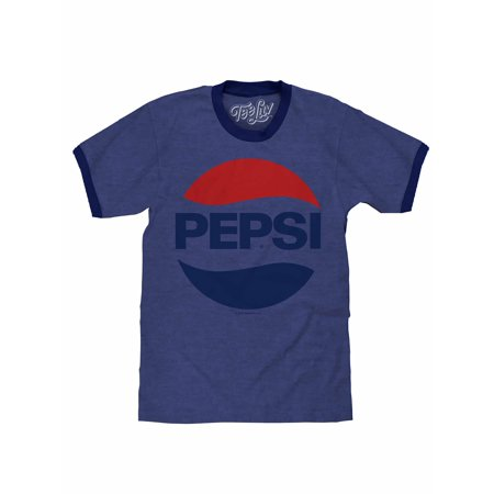 Tee Luv Pepsi 70s Logo Ringer T-Shirt - 70s Clothes Mens