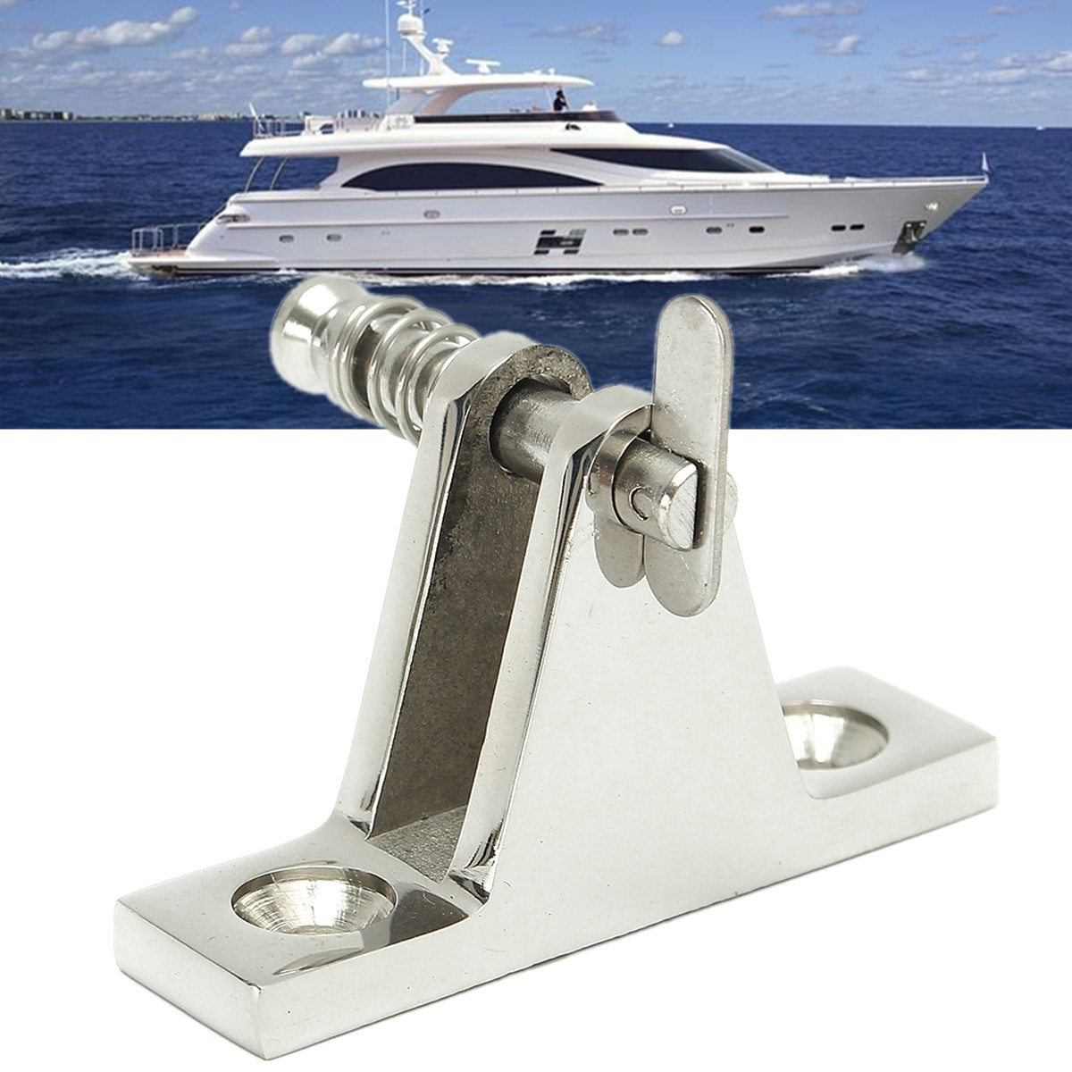 Details about  /Marine Boat Nylon Deck Hinge Bimini Top Fitting Angle 90 Degree Pin