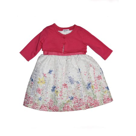 Printed Lace Easter Dress and Shrug Cardigan, 2-Piece Set (Little Girls)](Girls And Dresses)