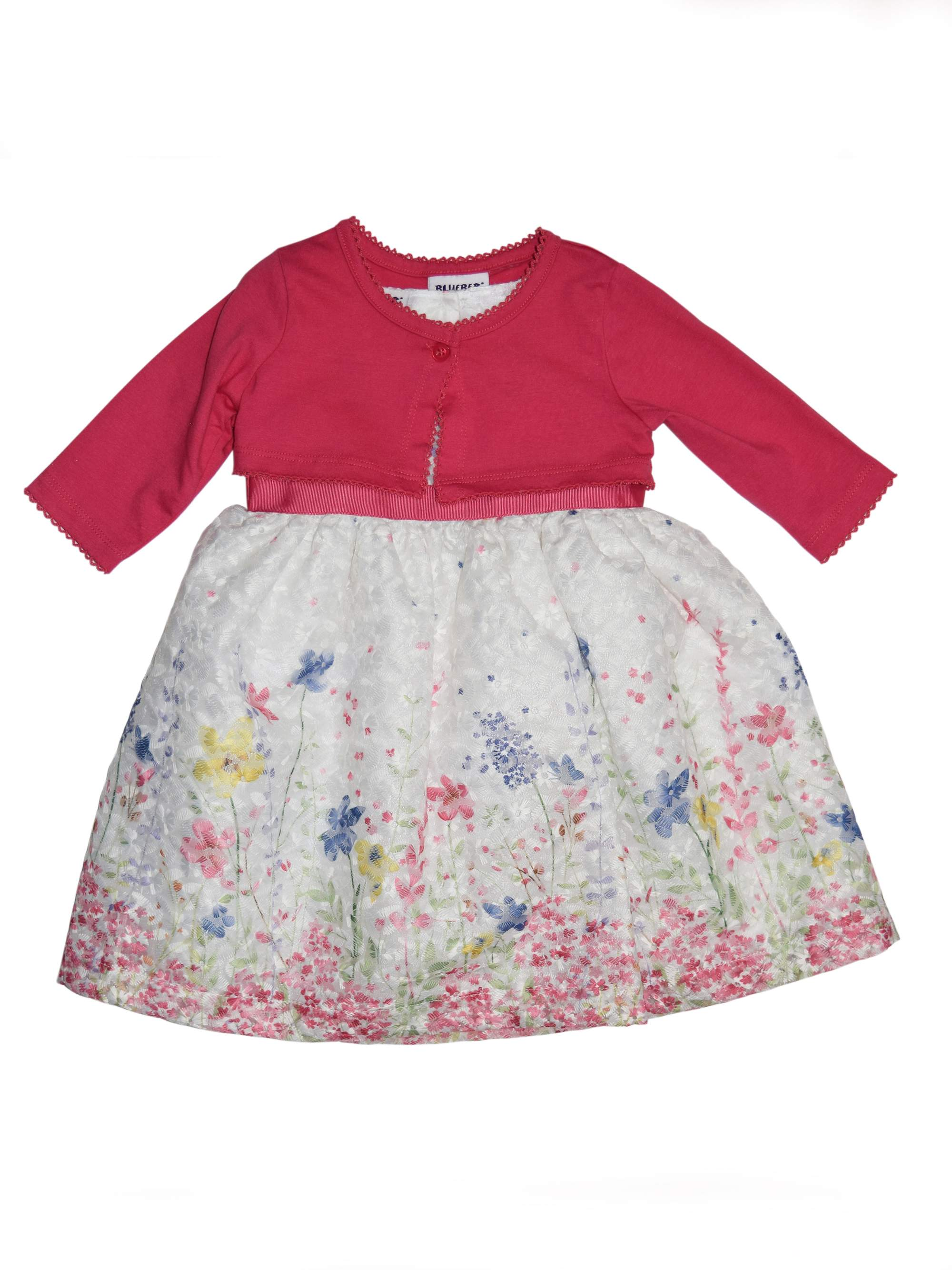 Printed Lace Easter Dress and Shrug Cardigan, 2-Piece Set (Little Girls)