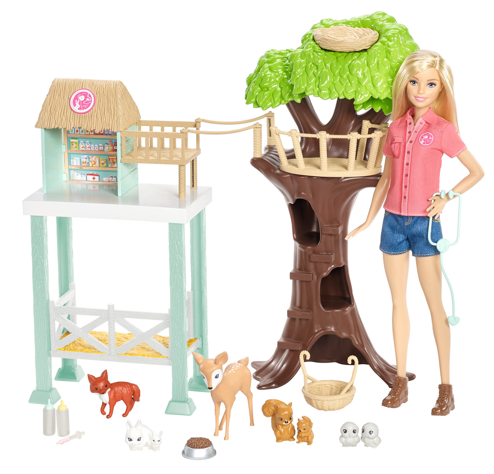 Barbie Pet Rescue Center Playset