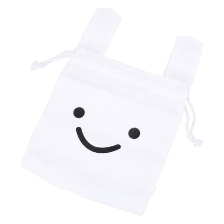 Unique Bargains Travel Ninja Rabbit Drawstring Lunchbox Laundry Gadgets White Storage Bag (White Rabbit Bag)