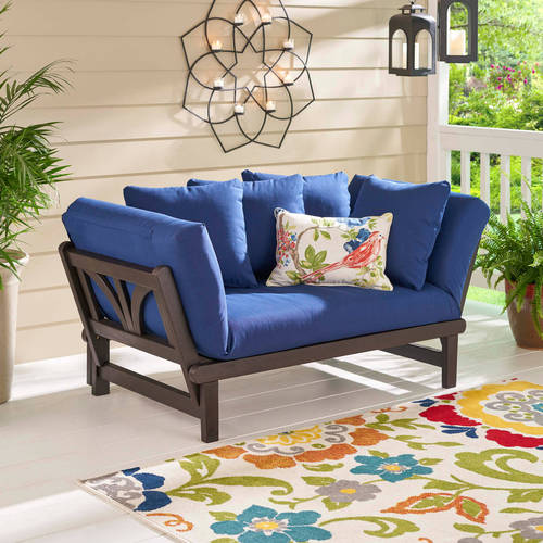 Better Homes And Gardens Delahey Studio Day Sofa With Cushions   Navy