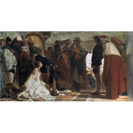 Marco Polo In The Court Of The Great Kublai Khan Canvas Art - (36 x ...