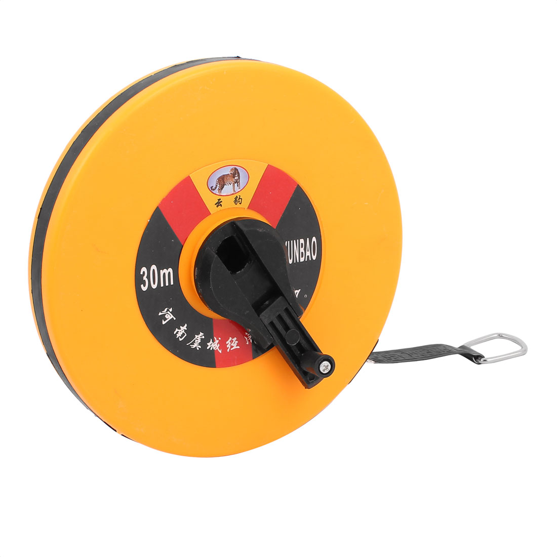 Plastic Case Round Retractable Measuring Tool Tape Measure Yellow 30m Long