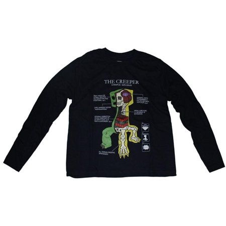 Minecraft - Creeper Antomy Youth Long Sleeve
