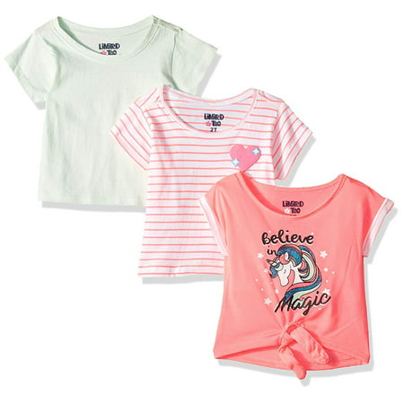 - Printed and Graphic T-shirts, 3-pack (Toddler Girls)