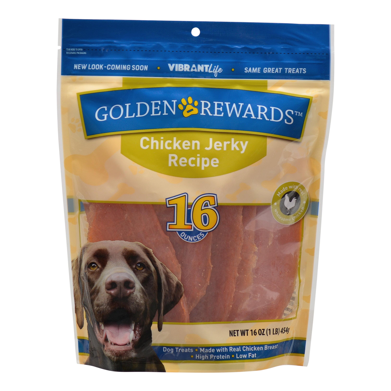 Golden Rewards Chicken Jerky Dog Treats, 16 oz.