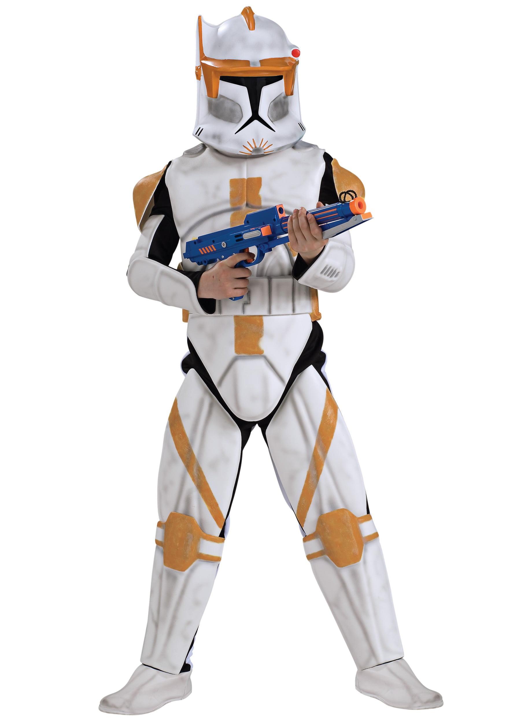 Childs Star Wars Rebels Stormtrooper Action-suit Costume Medium 8-10 Halloween