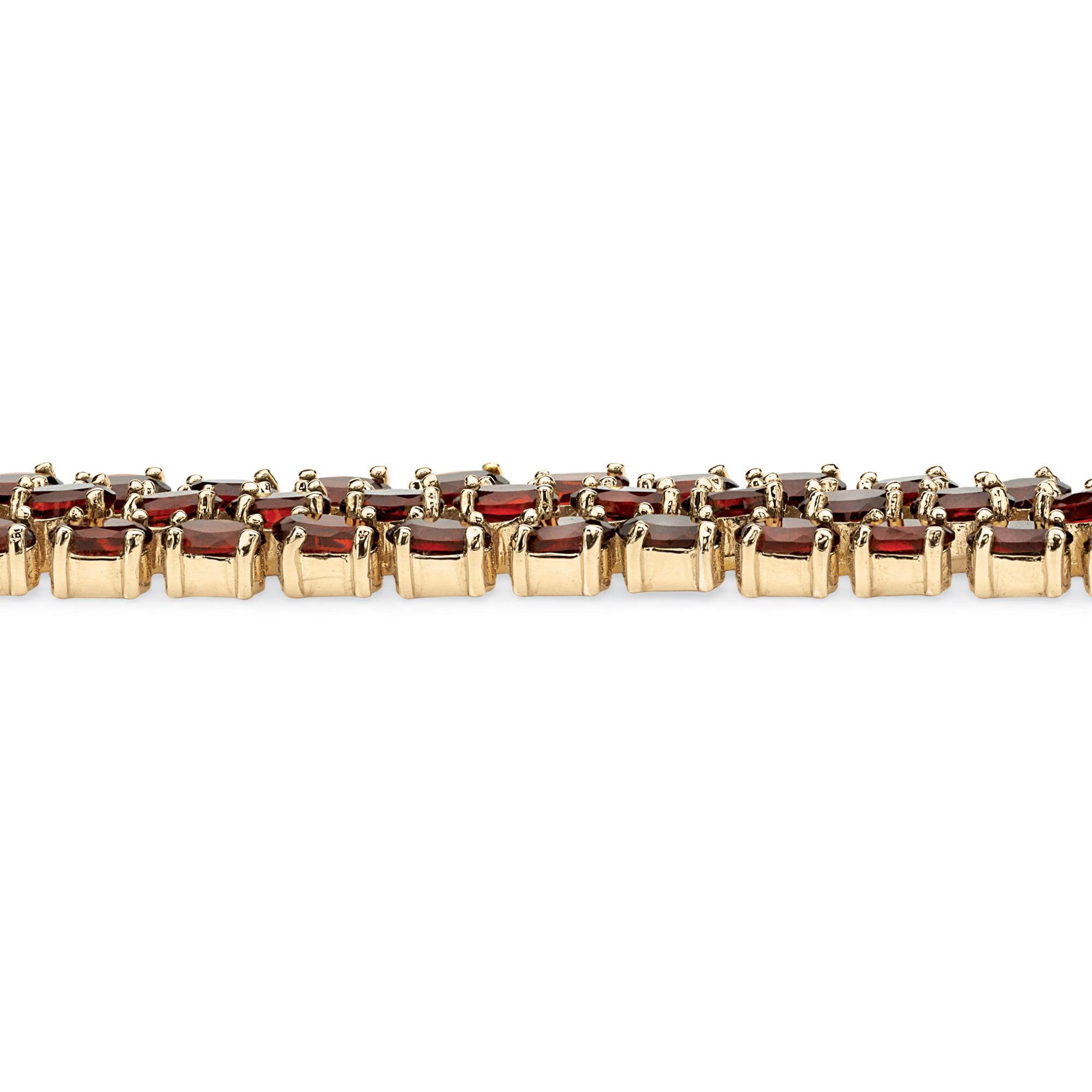 garnet tennis bracelet