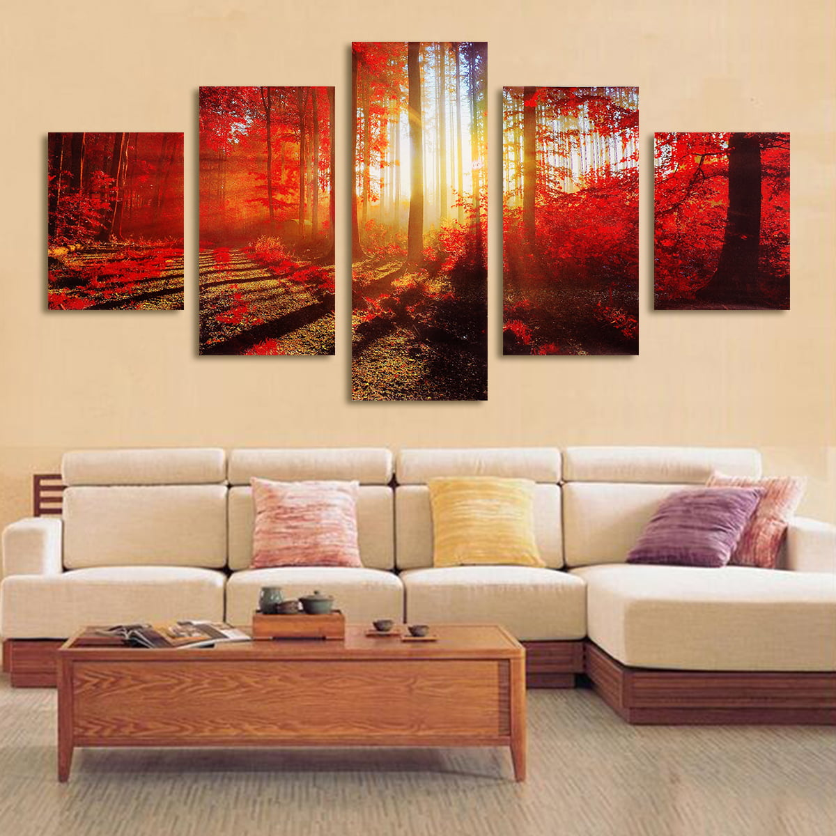 5PCS Modern Art Oil Paintings Canvas Print Unframed Pictures Home Wall Sticker Decor by