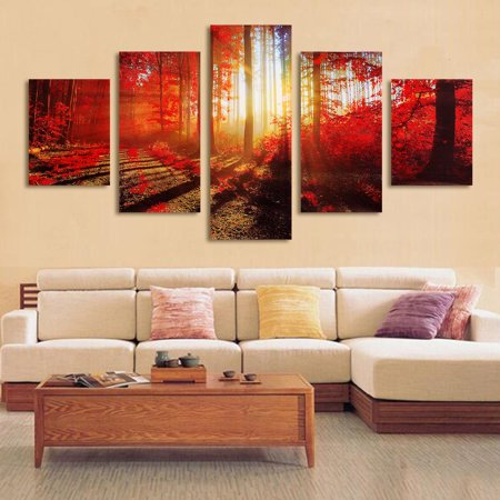 5Pcs Modern Art Oil Paintings Canvas Print Unframed Pictures Home Wall Sticker Decor