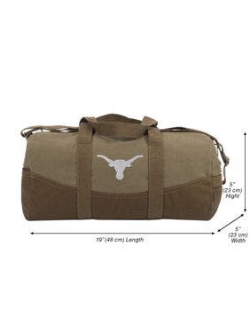 "095838abdb Product Image Texas Longhorn Two Tone Brown Canvas 19"" Duffel Bag with  Detachable Strap"