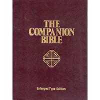 KJV Companion Bible-Large Print-Burgundy Hardcover