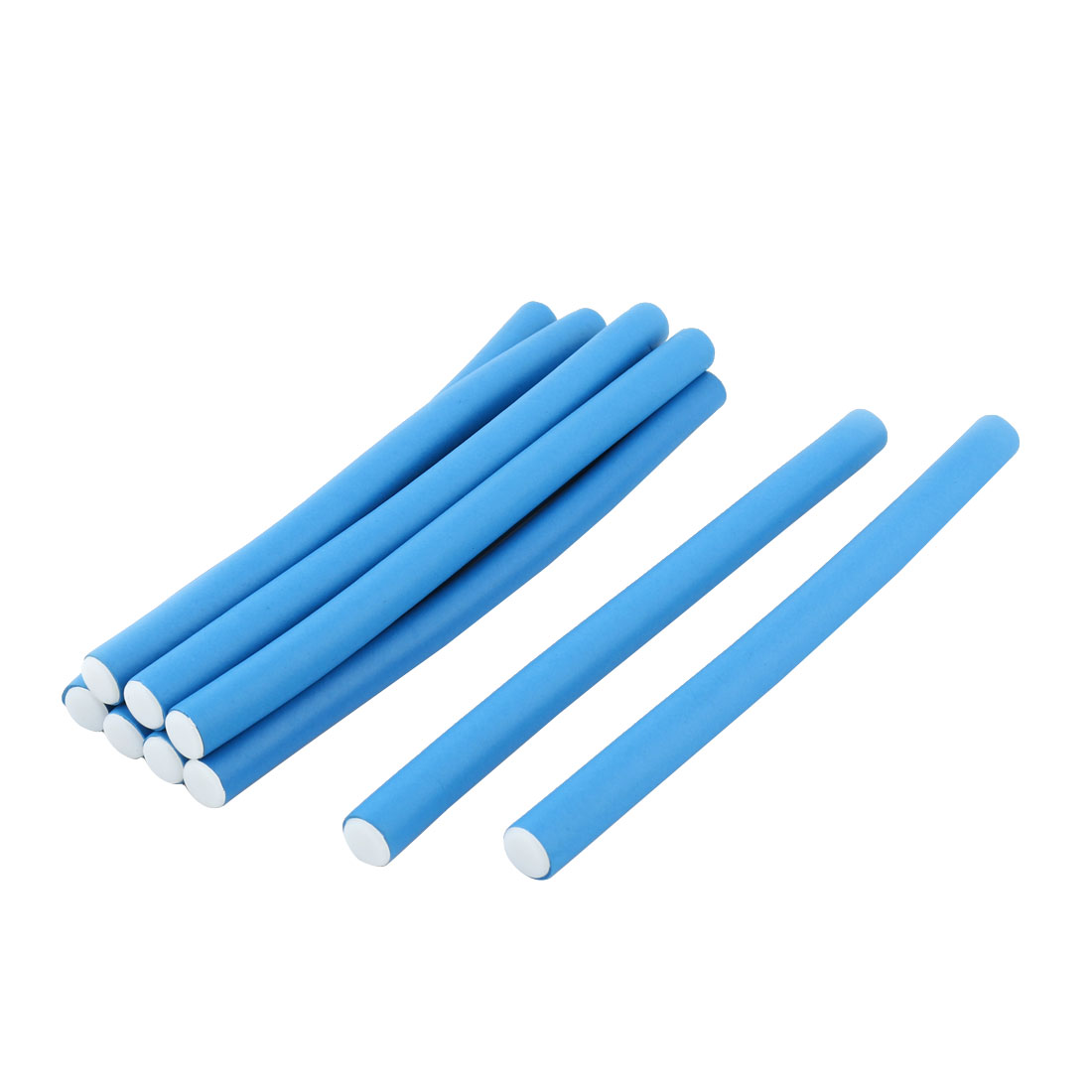 Ladies Sponge Perm Hairstyle Curler Rollers Curling Hair Rods Blue 9 Pcs