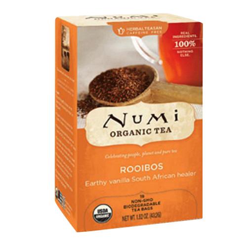 Numi Organic Red Mellow Bush Rooibos Tea, Caffeine Free - 18 Tea Bags