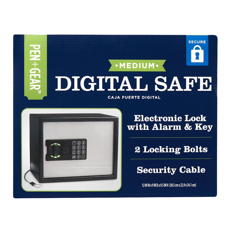 Pen + Gear Medium Digital Safe, Electronic Lock - Walmart com
