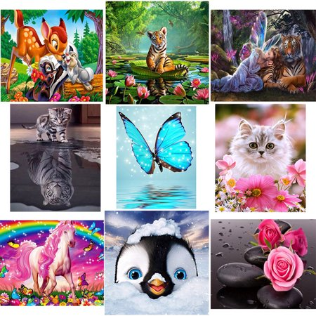 Embroidery 5D DIY Family Owl Rhinestone Diamond Painting Picture Drill Crystal Cartoon Animal Cross Stitch Decoration Gift