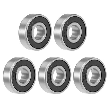 6201-2RS Deep Groove Ball Bearing 12x32x10mm Double Sealed GCr15 Bearings 5pcs - image 4 de 4