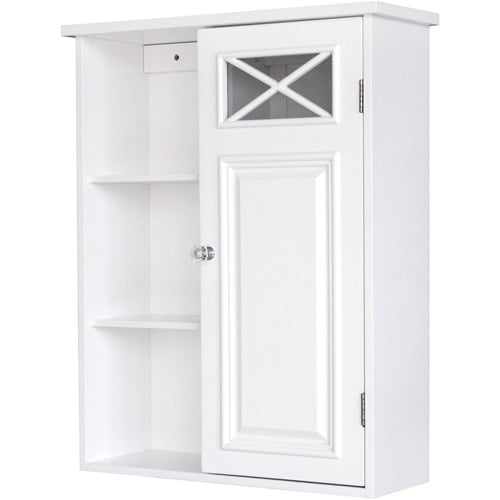 Elegant Home Fashions Sicily Linen Tower with 2 Shutter Doors ...