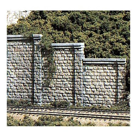 C1159 Cut Stone Retaining Walls (6) N WOOU1159, Model Railroading Supplies By Woodland Scenics