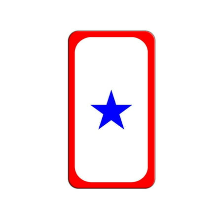 Blue Star Flag - One 1 War Mother Service Lapel Hat Pin Tie Tack