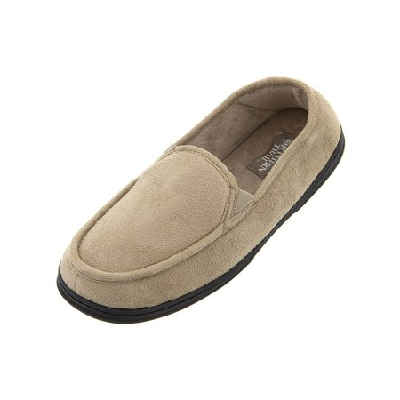 Northern Trail Men's Tan Moccasin Slippers
