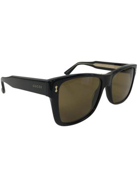 109fc4622a6 Product Image Gucci GG 0052S 001 Black Brown Gold Plastic Sunglasses 55mm