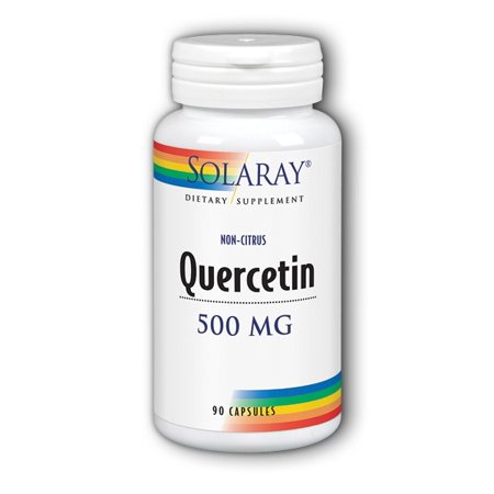 Solaray Quercetin 500mg | Support for Healthy Cells, Heart, Circulatory & Respiratory System | Bioflavonoids, Antioxidants, AMPK Activator | 90 Count Womens Menopausal Support 90 Tabs
