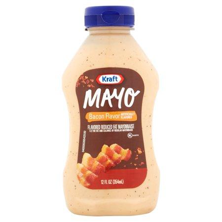 Kraft Mayo Mayonnaise Bacon Reduced Fat, 12 FL OZ (354ml) Bottle