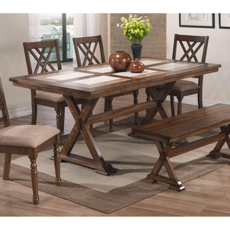 Winners Only Florence Tile Top X-Leg Dining Table Table ()