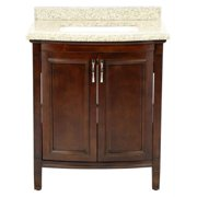 30 in. Vanity in Cocoa with Speckled Beige Granite Top
