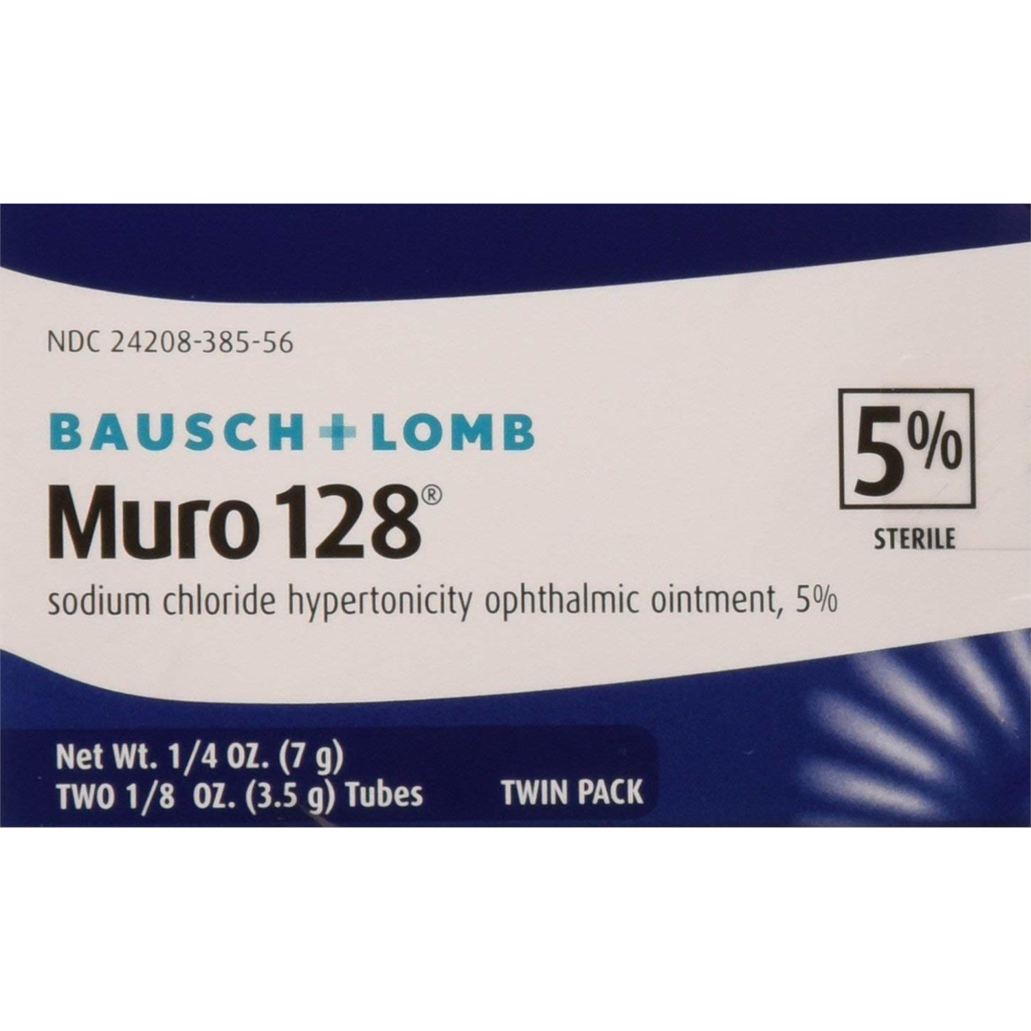 Bausch & Lomb Muro 128 Ointment 5% 2-ct tubes 35G in Each