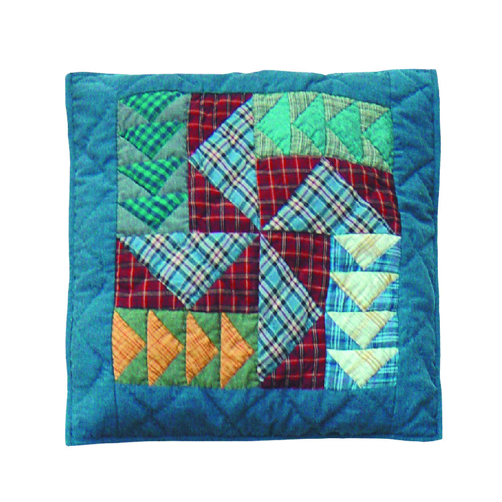 "Patch Magic Fall Windmills Toss Pillow 16""X 16"""