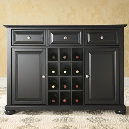 Crosley Furniture Alexandra Buffet Server and Sideboard Cabinet with Wine - Mahogany Sideboard
