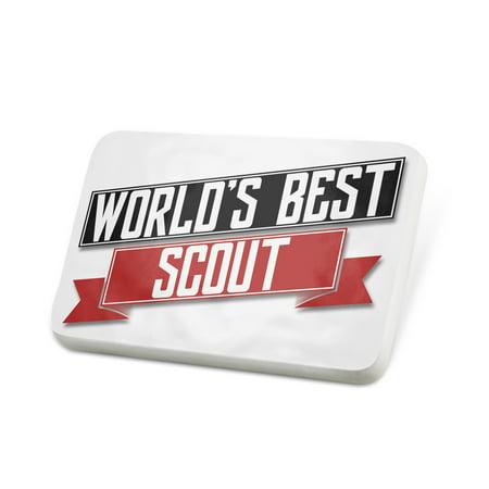 Bsa Scout Badge (Porcelein Pin Worlds Best Scout Lapel Badge – NEONBLOND)