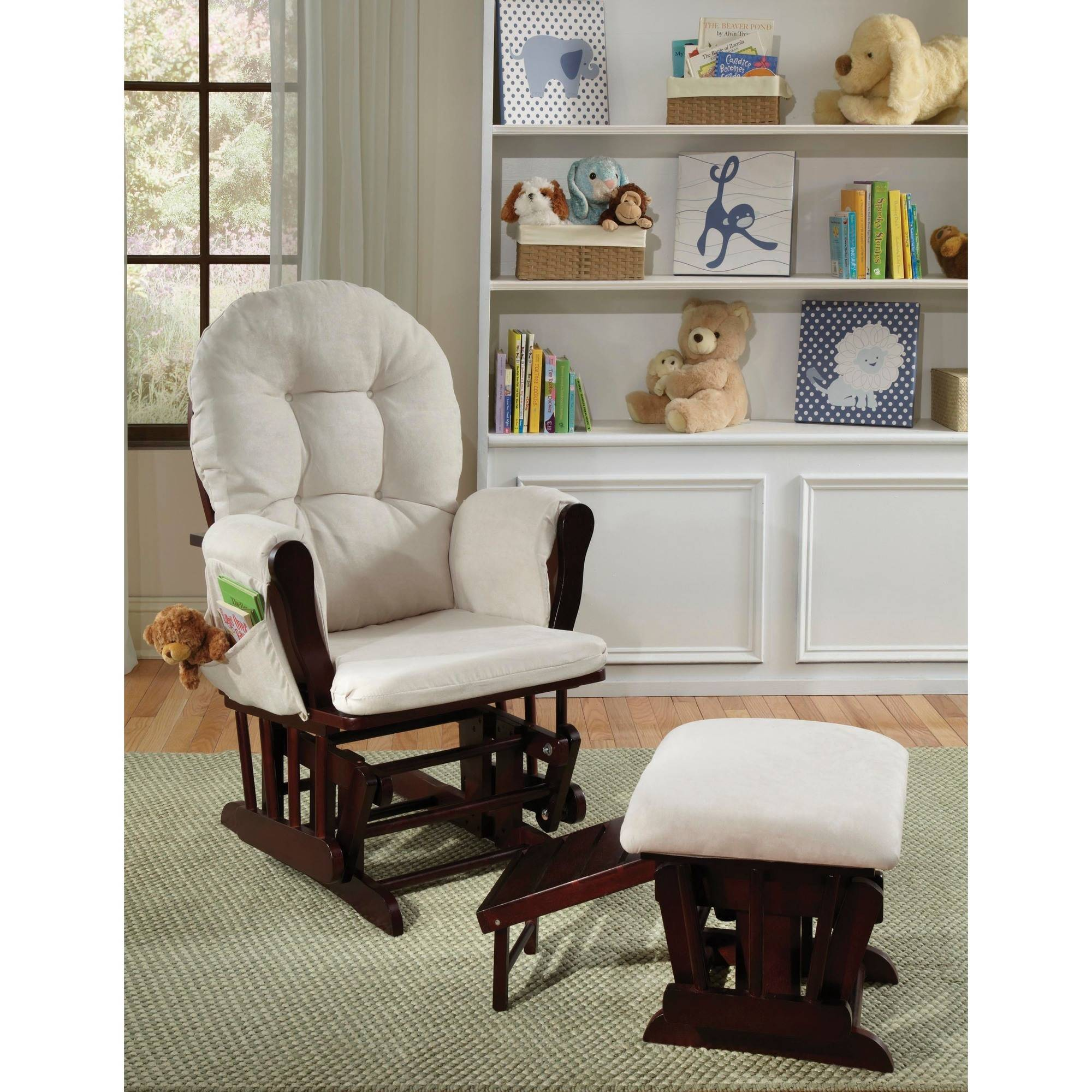 Storkcraft Cambridge Glider with Nursing Ottoman, Espresso
