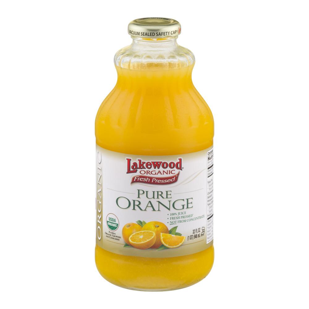 Lakewood Organic Fresh Pressed Pure Orange Juice, 32.0 FL OZ