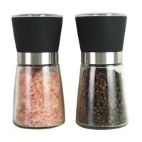 Kamenstein Set of 2, 5 inch Glass Salt and Pepper Grinders