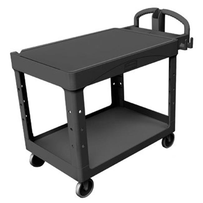 Rubbermaid Commercial 640-4525-BLA 500 Lb Capacity Flat Shelf Cart Black