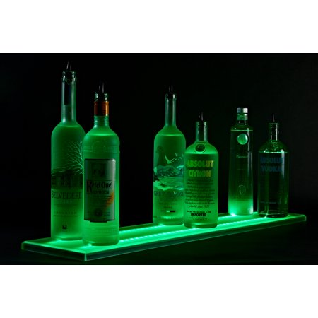 3' Double Wide Wall Mounted LED Liquor Shelf &