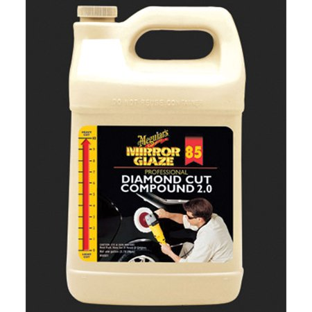 - Meguiar's M8501 Mirror Glaze Diamond Cut Compound 2.0, 1 Gallon