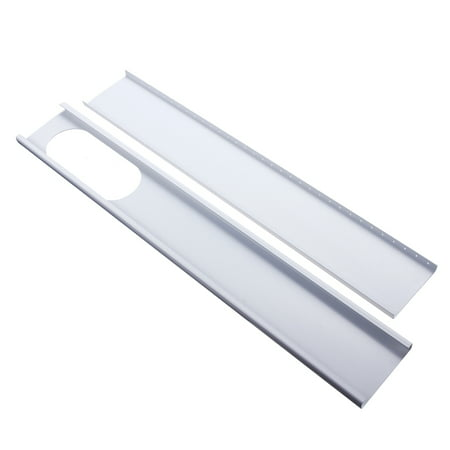 2Pcs 67.5-120cm Length Adjustable Portable Air Conditioner Spare Parts - Window Slide Kit