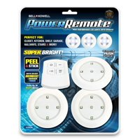 Bell + Howell Power Remote – Super Bright High Performance Mini LED Lights with Remote, As Seen on TV! 3 PACK
