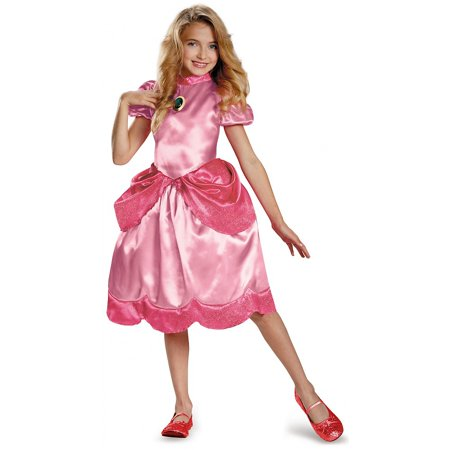 Princess Peach Classic Child Costume - Small - Peaches Costume