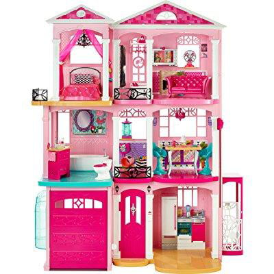 Mattel 2015 Barbie DreamHouse Pink Doll House 3 Story With 70+ Accessories 4ft x 3ft