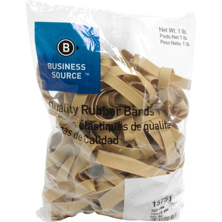 Business Source, BSN15751, Quality Rubber Bands, 150 / Pack, Crepe