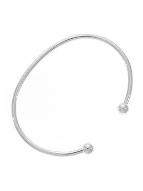 c4b57edce Product Image Sterling Silver Bangle Cuff Bracelet For European Style Large  Hole Beads - Screw End 6.5 Inches