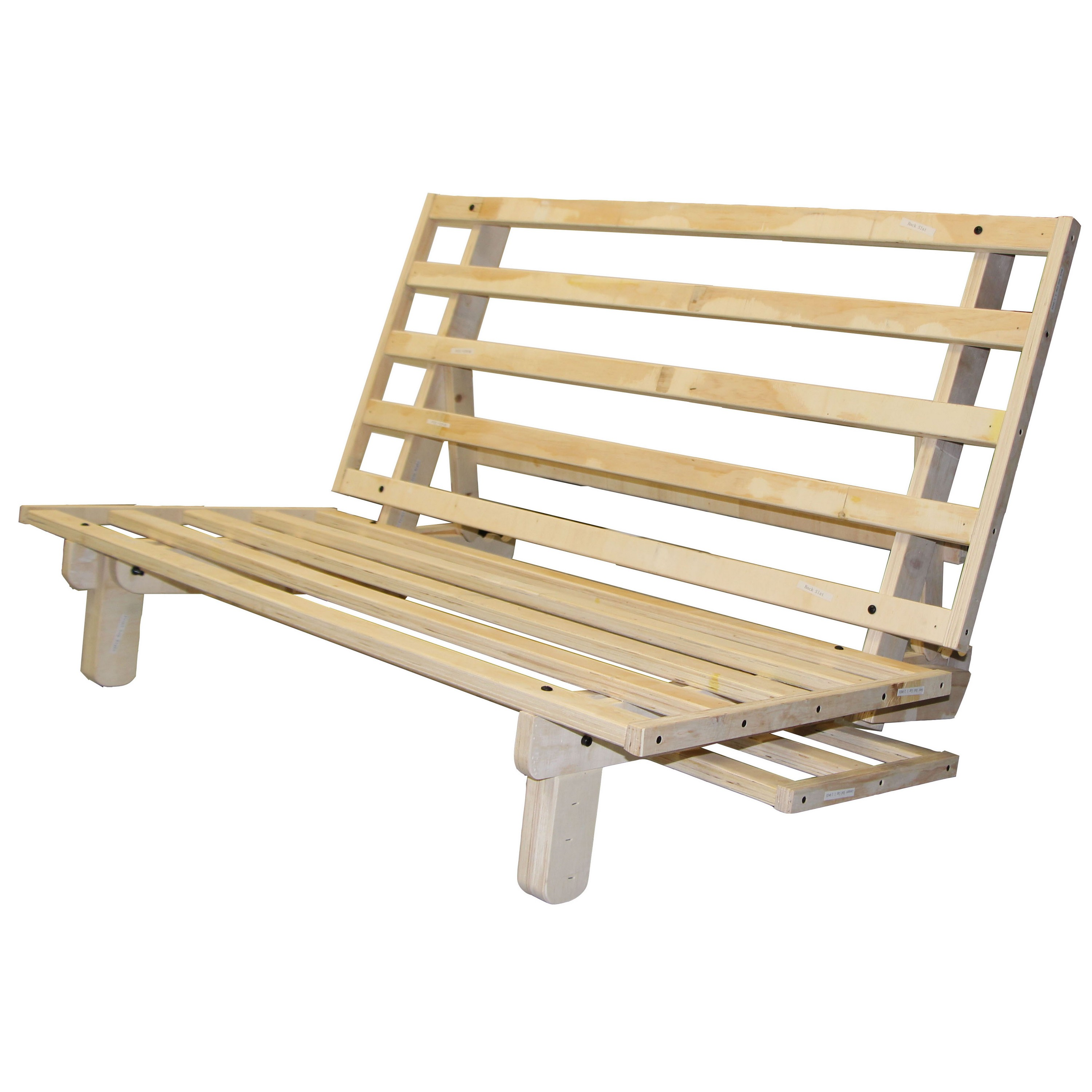 Lounger All Wood Sit, Lounge, or Sleep Futon Frame, Queen-size by Epic Furnishings
