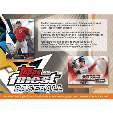 2018 Topps Finest Hobby Box (12 Packs/5 Cards: 2 Autographs)